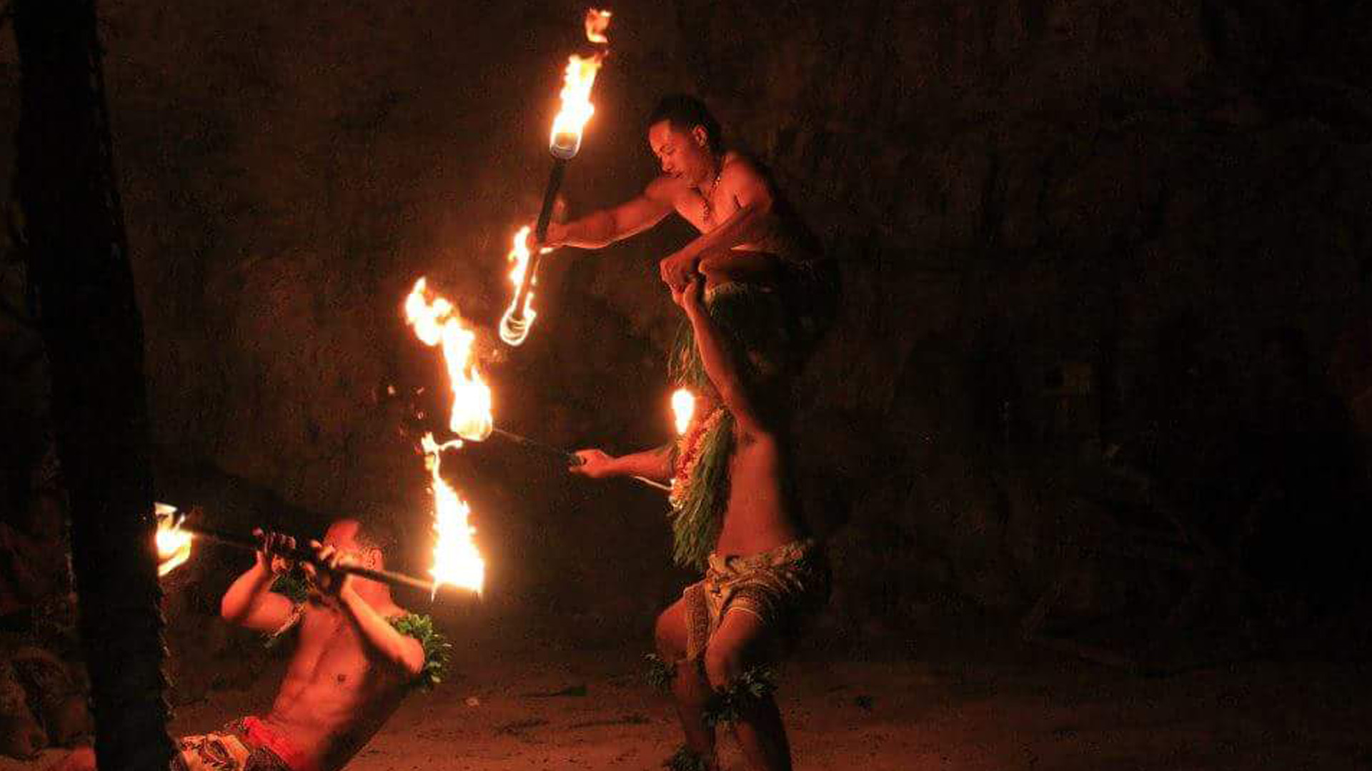 Tonga - Cultural Activities at Hina's Cave